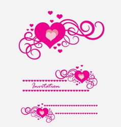 Heart love ornament vector