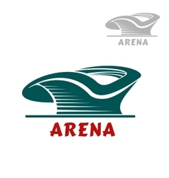 Sports stadium icon with curved shape vector