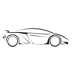 New car silhouette line icon vector