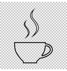 Cup of coffee line icon vector
