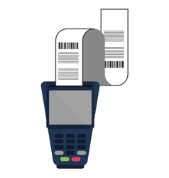 Dataphone with receipt icon vector