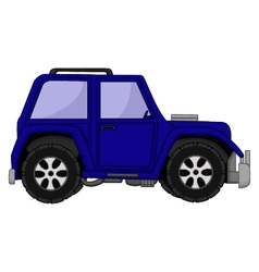 Cute jeep car cartoon vector