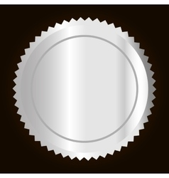 blank metallic label or seal icon image vector image vector image