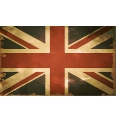 British flag old vector image vector image