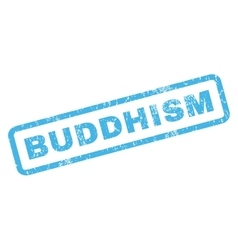 Buddhism rubber stamp vector