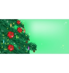 Christmas or New Year background Sparkling vector image vector image