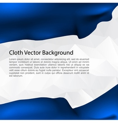 Cloth background blue vector