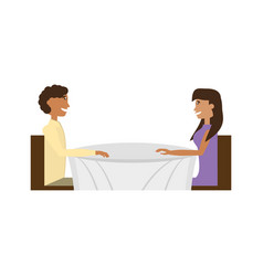 couple love sitting romance image vector image