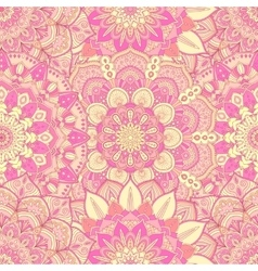 Flower pattern intricate pink vector