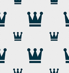 King Crown icon sign Seamless pattern with vector image