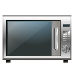 Microwave oven on white background vector