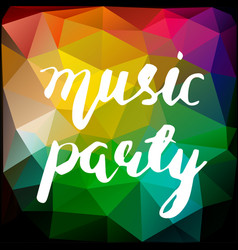 Music party lettering vector