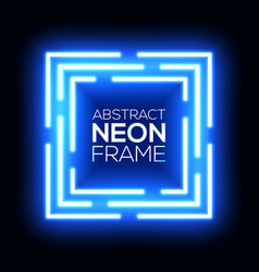 neon light abstract squares square background vector image
