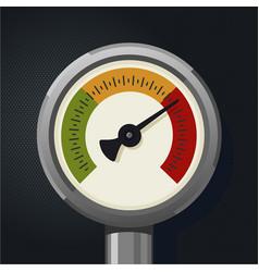 Retro manometer realistic vintage pressure gauge vector