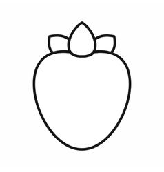 Ripe persimmon icon outline style vector