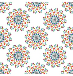 Seamless pattern of colored squares vector image vector image