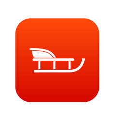 Sled icon digital red vector