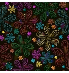 Summer night flowers vector