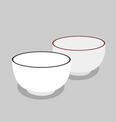 Two bowl vector