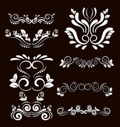 Vintage frames and scroll elements4 vector