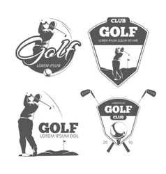 Vintage golf labels badges and emblems vector image vector image