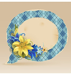 vintage speech bubble vector image vector image