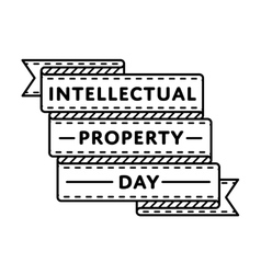 World intellectual property day greeting emblem vector
