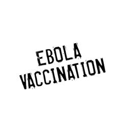 Ebola vaccination rubber stamp vector