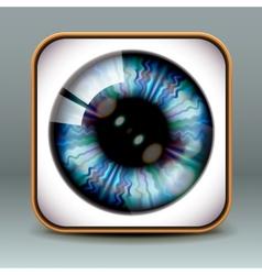 App design eye icon vector image