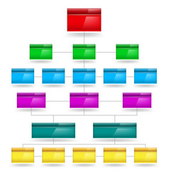 color empty diagram on white background vector image
