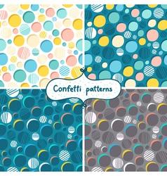 Confetti patterns vector image