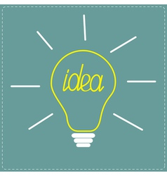 Yellow bulb idea concept vector