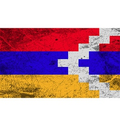 Flag of karabakh republic with old texture vector