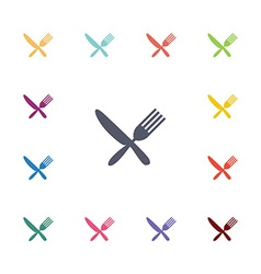 Restaurant flat icons set vector
