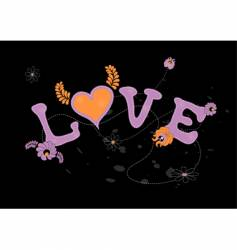 Love with flowers vector