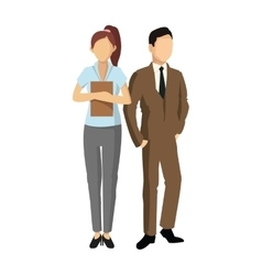 Couple of woman and man avatar icon vector