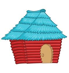 A colourful native house vector