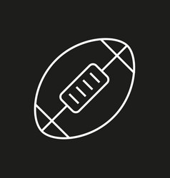 American football ball icon on black background vector