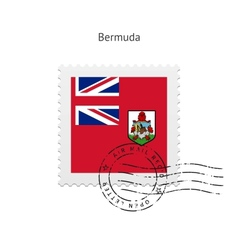 Bermuda flag postage stamp vector
