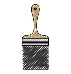 brush paint isolated icon vector image vector image