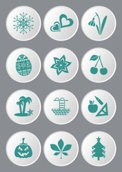 Calendar icons vector