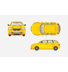Car hatchback top front side view vector
