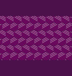 concept purple seamless geometry pattern vector image vector image