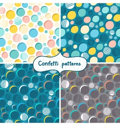 Confetti patterns vector image