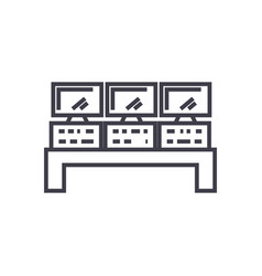 control system line icon sign vector image