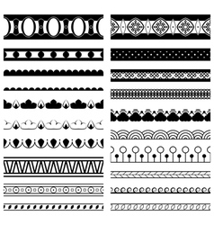 Decorative pattern brushes vector
