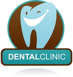 dental clinic icon - smile tooth vector image