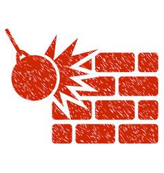Destruction grunge icon vector