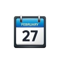 February 27 calendar icon vector