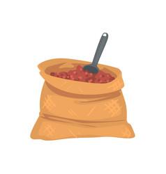 Fertilizer bag cartoon vector